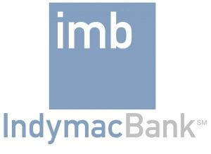 Close Up View of IndyMac Bank Logo on White Background