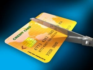 Cutting a credit card - Orange County bankruptcy attorney