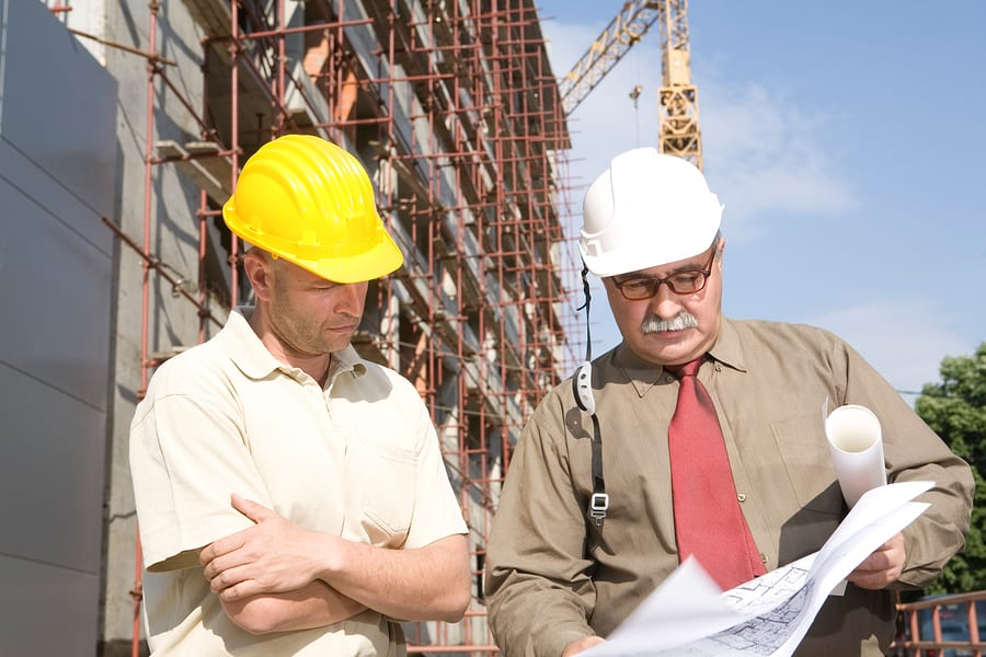 Los Angeles litigation attorney - engineers at the construction site