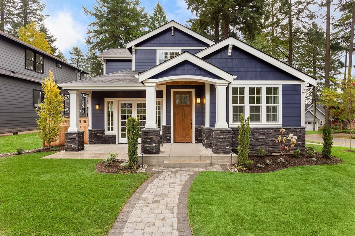 exterior front of luxury home