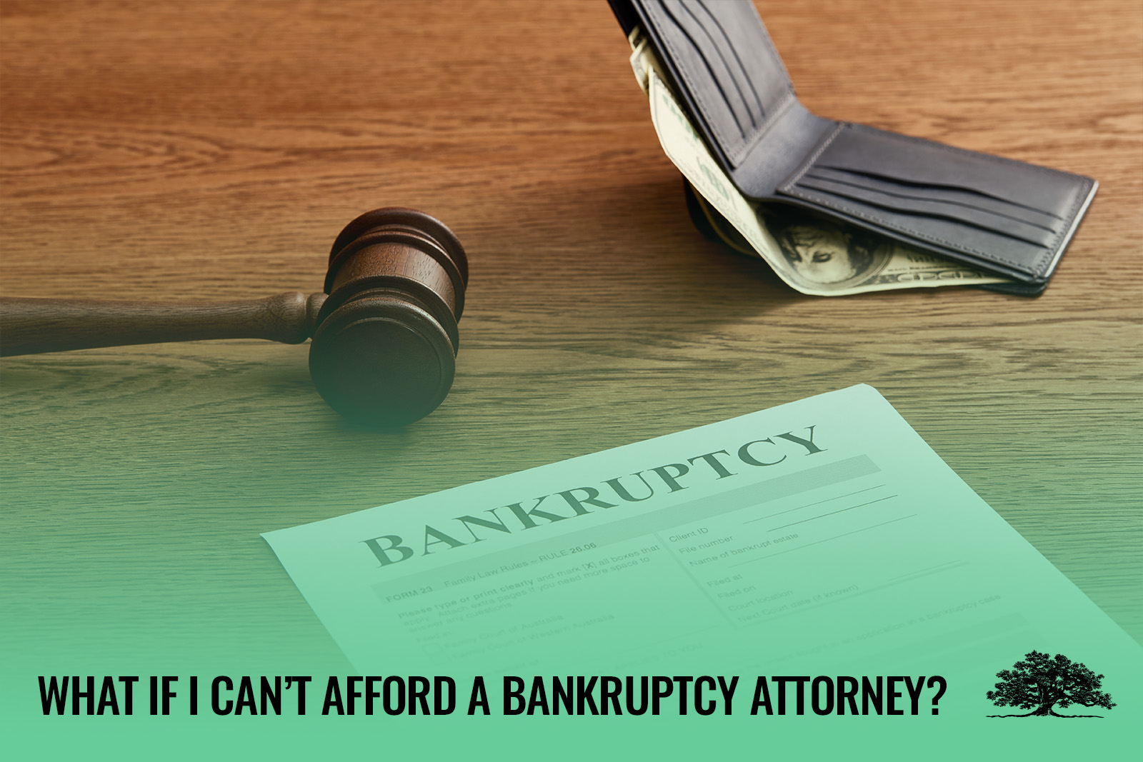 cant afford bankruptcy attorney