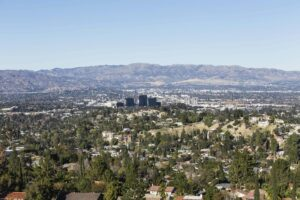 clear day view of Woodland Hills