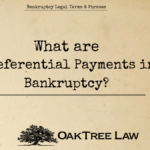 Preferential Payments Bankruptcy