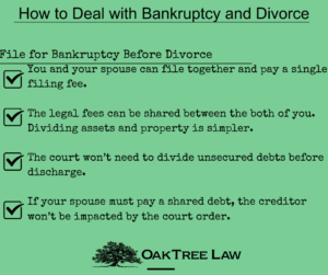 Divorce and Bankruptcy Tips